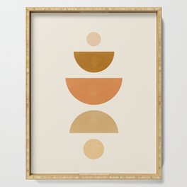 Abstraction_Geometric_Shape_Moon_Sun_Minimalism_001D Serving Tray
