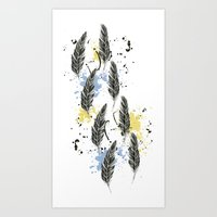 Feather Fashion Pattern Art Print