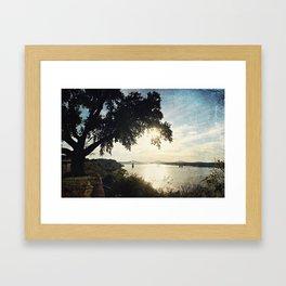 Mississippi River at Natchez Framed Art Print