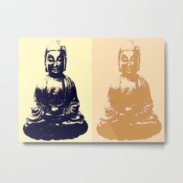 One Moment Can Change A Day, Little Buddha Metal Print