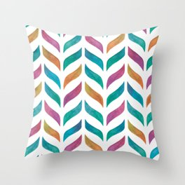 Colorful Leaf Pattern Throw Pillow