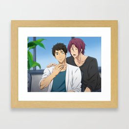 SouRin bromance Framed Art Print