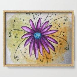 Vibrant Flower Serving Tray