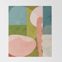 shapes geometry art mid century Throw Blanket