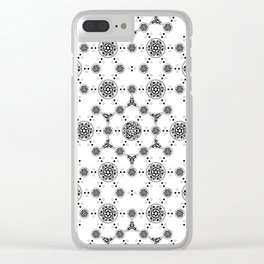 ancient sacred geomertry. seamless pattern. flower of life Clear iPhone Case