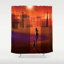 The warm walk home Shower Curtain