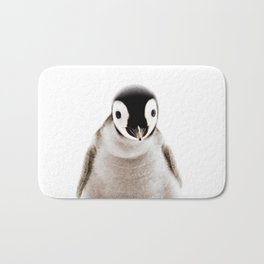 Baby Penguin, Baby Animals Art Print By Synplus Bath Mat