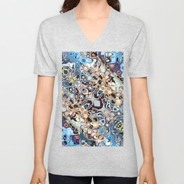Colorful Chaotic Pattern Unisex V-Neck