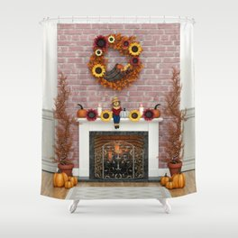 Harvest Hearth Shower Curtain