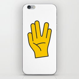 Hand Gesture - Live Long And Prosper iPhone Skin