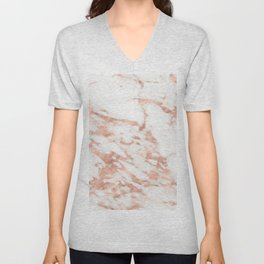 Taggia rose gold marble Unisex V-Neck