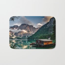 Italy mountains lake Bath Mat