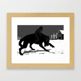 Svart-Alf Framed Art Print