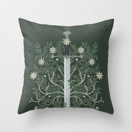 Flame of the West Throw Pillow