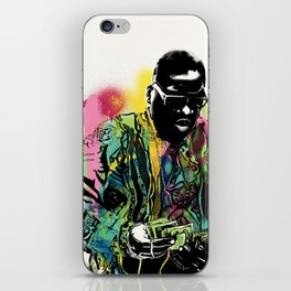 Biggie Smalls Spray Paint Illustration iPhone Skin