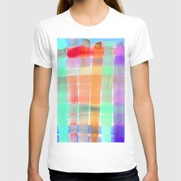 Colorful Watercolor Stripes - Turquoise and Lilac Palette T-shirt