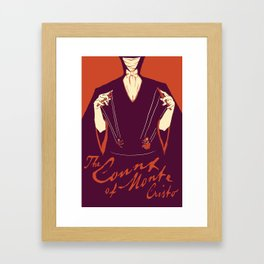 The Count of Monte Cristo Framed Art Print