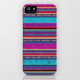 King of Kings Stripe Amanya Design iPhone Case