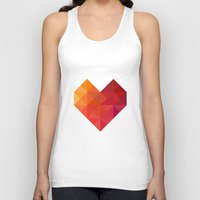xbox Tank Tops featuring Heart by Dizzy Moments