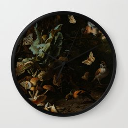 """Melchior d'Hondecoeter """"Animals and Plants"""" Wall Clock"""