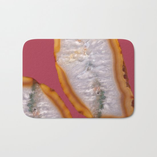 Agate Translucent #Yellow #Orange #4 #decor #art #society6 Bath Mat