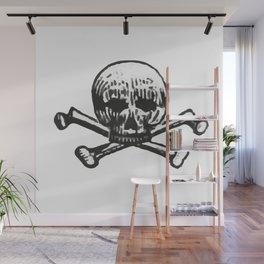 Skull and bones Wall Mural