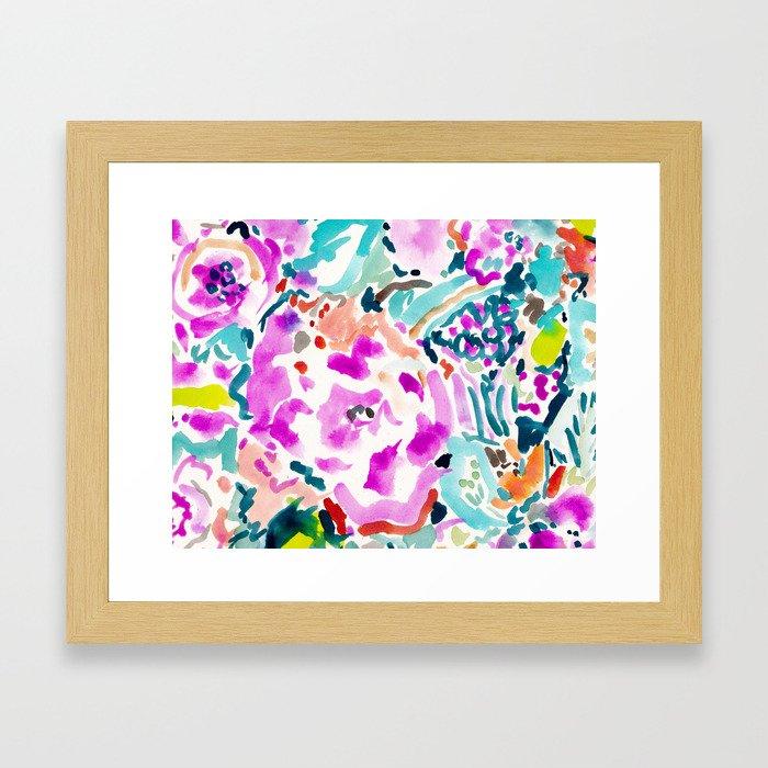 GARDEN GRAVY FLORAL Framed Art Print