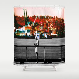 Living in the Gray World Shower Curtain