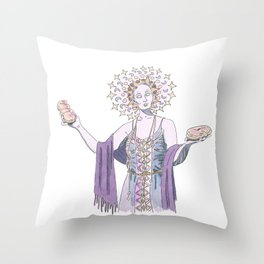 Saint of Pastry Throw Pillow