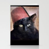 fez Stationery Cards featuring Fez Felix by The Lonely Pixel