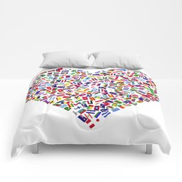 Heart flags countries Comforters
