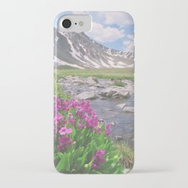 Above the tree line, in the tundra above Breckenridge, Colorado iPhone Case