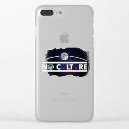 No Culture Clear iPhone Case