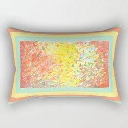 Falling Leaves in Sunlight Watercolour Rectangular Pillow