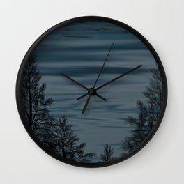 Lake at Night Wall Clock