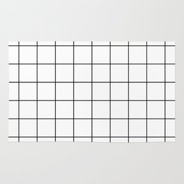 grid pattern Rug