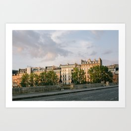 Seine Paris at Sunrise Art Print