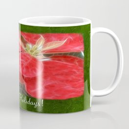 Mottled Red Poinsettia 1 Ephemeral Happy Holidays P1F1 Coffee Mug