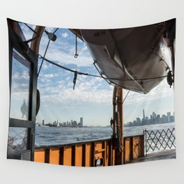 Staten Island Ferry & Lifeboat Wall Tapestry