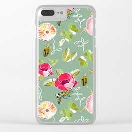 Grannie's Flowers Clear iPhone Case