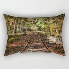 Forward Along the Railroad Tracks Rectangular Pillow