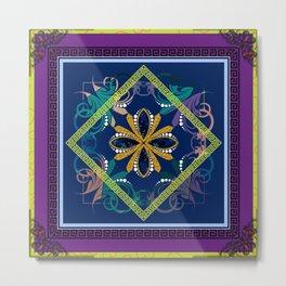 The Purple Batique Metal Print