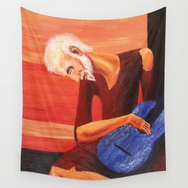 Young Guitarist Wall Tapestry