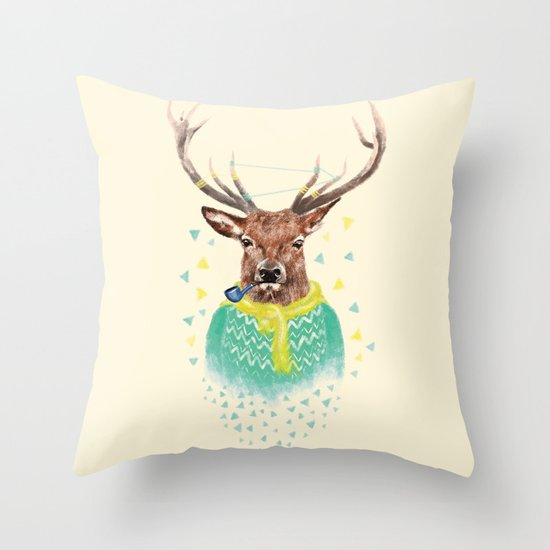 Wonder Deer Throw Pillow
