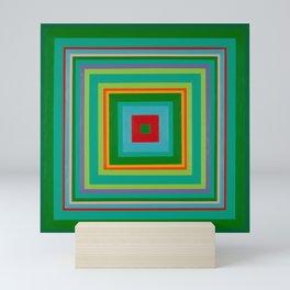 """Pop Ring Green""   Op art Mini Art Print"