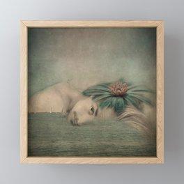 A man, the sea and a dream Framed Mini Art Print