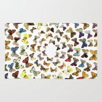 butterflies Area & Throw Rugs featuring Butterflies by Ben Giles