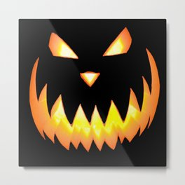 Haloween Pumpkin Metal Print