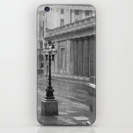 Lamppost In The Rain. iPhone Skin