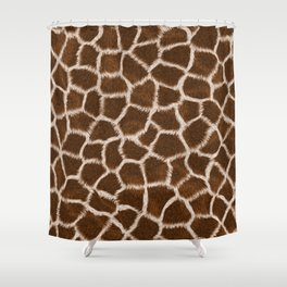 Russet Giraffe Skin Shower Curtain